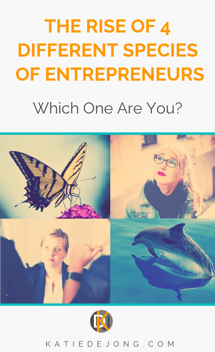 Find out about the emergence of four different species of entrepreneurs in today's changing professional landscape - and discover which category you fit into! #entrepreneur #entrepreneurship #ladyboss #ladybosses #womeninbusiness #liveyourpassion #followyourheart #liveyourdream #passion #solopreneur #entrepreneurlife #entrepreneurial #entrepreneurmindset #success #successmindset #ladybosslife #worksmarter #changemakers #heartcentered #heartcentred #worksmarternotharder #laptoplifestyle