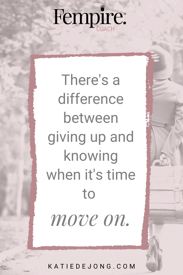 You might be afraid to let go of something in life because you're afraid of being a 'quitter'. But there's a time and place to let go of things that aren't bringing you joy. There's a difference between giving up and knowing when it's time to move on. Read on to find out what it is. #purpose #truth #personalgrowth #personaldevelopment #careerchange #authenticity
