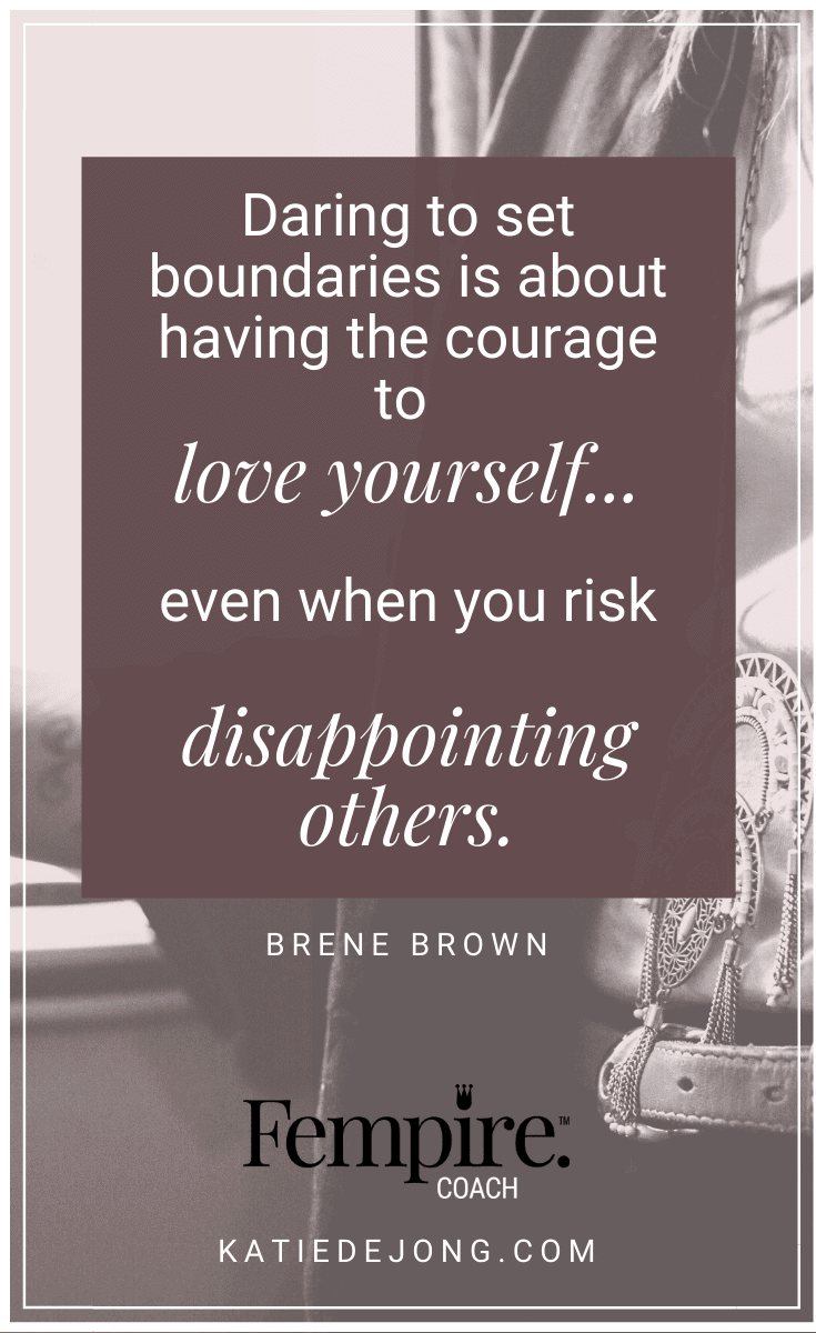 For those of us who grow up as people-pleasers, it can be really hard to set strong, healthy boundaries. Can you relate? Here are some practical ways that you can protect your own sanity and well-being with strong and healthy personal boundaries. #fempire #fempirecoach #entrepreneur #womeninbusiness #womensupportingwomen #boundaries #relationships #selfcare #selflove #personalgrowth