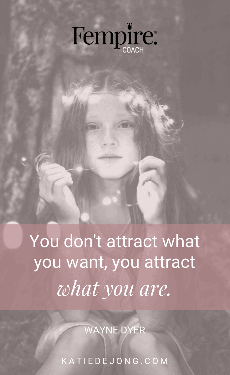 "In the law of attraction, you don't attract what you desire but rather what you're BEING. The cliche ""You have to fake until you become it"" holds absolutely true. Discover how to apply the LOA in your biz and life. #lawofattraction #dreambig #dreambelieveachieve #manifestation #motivation #inspiration #inspirationalquotes #motivationalquotes #business #entrepreneurmindset #success #mindset #tips #steps #career"