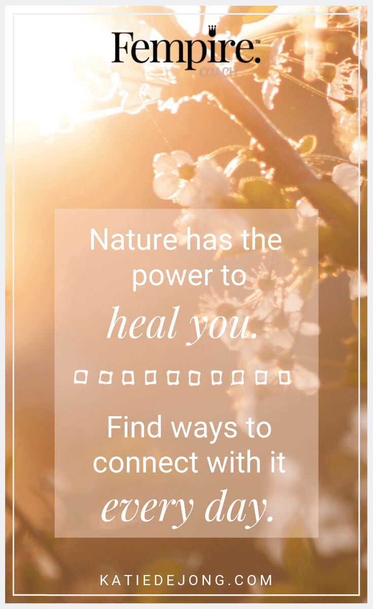 One of the most powerful things you can do to manage stress and maintain your sense of well-being is to get out into nature daily. Even if it's just appreciating the intricacy and beauty in a flower in your garden. Discover 10 ways to heal yourself now. #soulcare #selfcare #selflove #stressmanagement #burnout #selfcare #worklifebalance #burnout #preventburnout #entrepreneurlife #ladybosslife #girlboss #womeninbusiness #womensupportingwomen