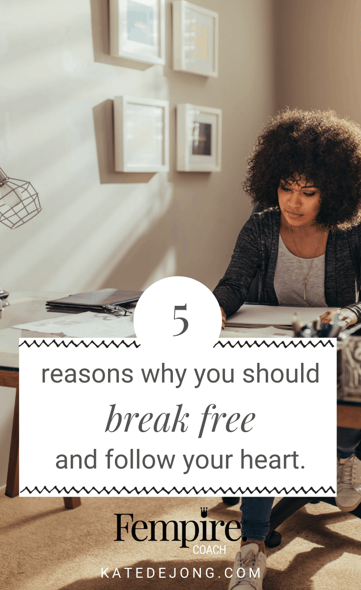 Life's too short to spend your days doing work that you don't absolutely love. What's holding you back from taking the leap of faith to finally do what really want to do? Read on to find out. #fempire #fempirecoach #smallbusiness #womeninbusiness #businesscoach #businesscoachforwomen #womensupportingwomen #entrepreneur #workfromhome