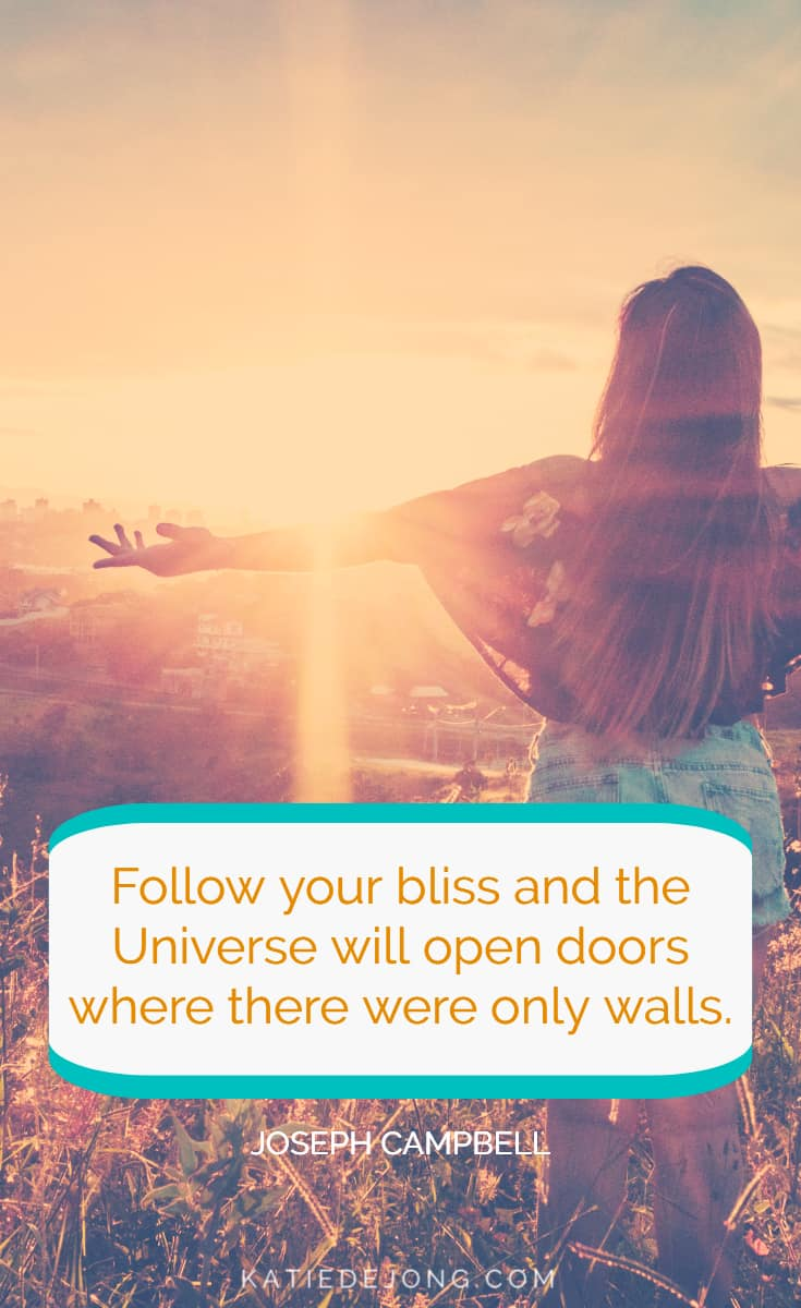 Joseph Campbell's advice to 'Follow your bliss' is easier said than done. Many of us struggle trying to understand what our own 'bliss' is. In this article, I'm sharing powerful techniques to uncover your unique and inspired professional path – the one that makes you want to jump out of bed every day! #careers #bestcareers #careerchange #careerpath #findyourpurpose #findyourcareer #purpose #followyourheart #listentoyourheart #careertransition #careerplanning #bigwhy #findyourbigwhy #inspiredcareers #bestcareeradvice #inspiredcareersinternational #inspiration #motivation #intuition #liveyourbestlife #dreambelieveachieve #dreambelieveachieverepeat
