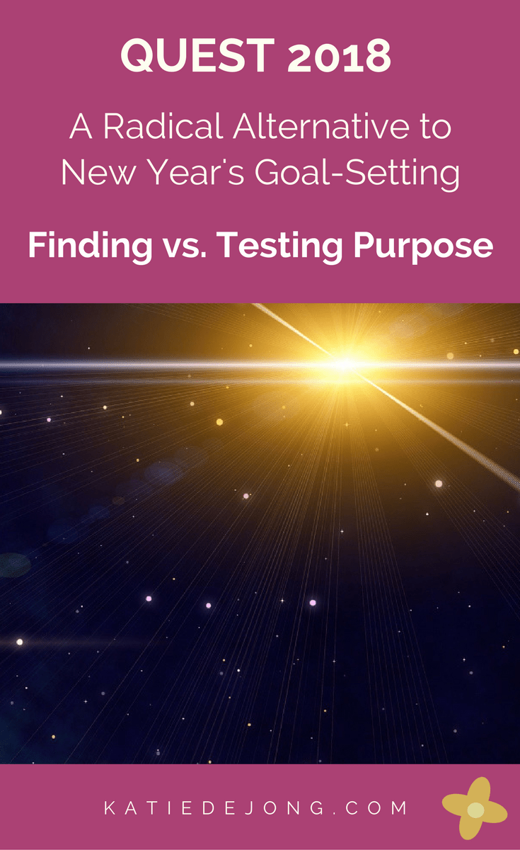 The second writing prompt in Quest2018 is exploring the question of finding versus testing purpose. Read on to discover my thoughts!