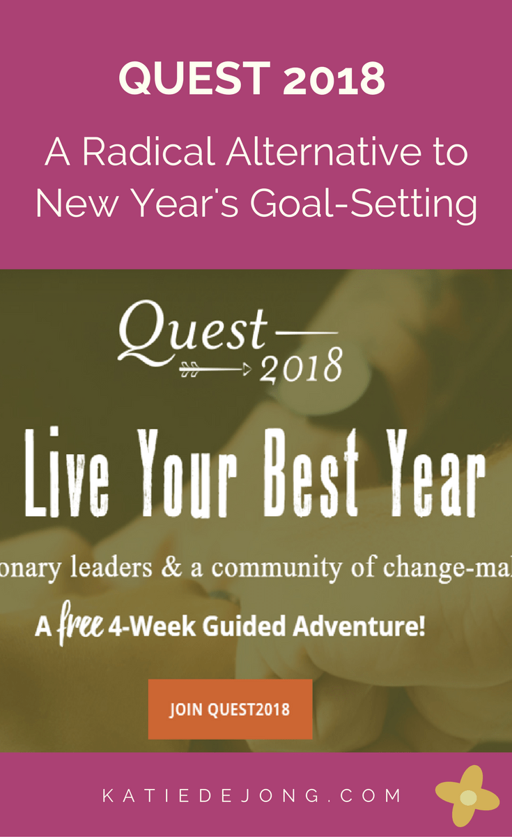 This article describes the Quest process - A Radical Alternative to New Year's Goal Setting #goals #goalsetting #quest #livethequest #wequest #productivity #planning #businessplanning #heartcenteredgoals