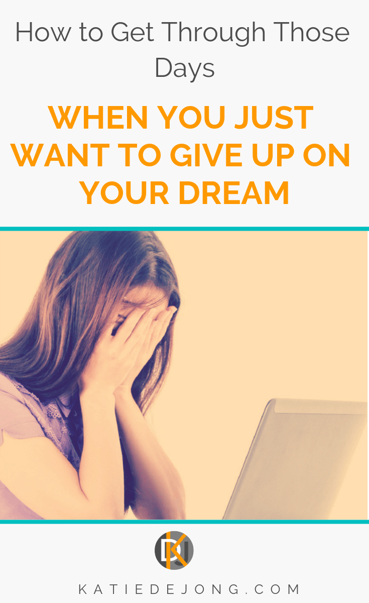 This article is all about those days when I just want to give up on my dream of working for myself and running a thriving, profitable business - and 7 ways I manage to get through them. Try these powerful strategies next time you hit an entrepreneurial dip! #entrepreneurship #workingfromhome #smallbusiness #resilience #perseverance #grit #whenthegoinggetstough #businessstartup #dontgiveup #startuplife #hanginthere #bossbabes #businesswomen #womeninbusiness #womensupportingwomen
