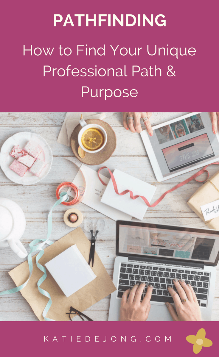 pathfinding  how to find your unique professional path  u0026 purpose - kate de jong