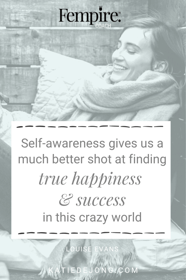 You've probably noticed how people who are self-aware are easier to get along with and nicer to be around. Give yourself and others the gift of greater self-awareness with three techniques described in The Happiness Key and experience greater levels of happiness and success now! #selfawareness #emotionalintelligence #success #happiness #authenticity #fulfillment #mindset #successmindset #happiness #EQ #fempire #fempirecoach