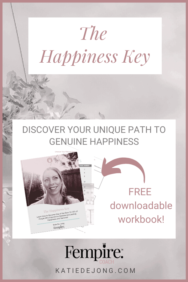 Want to discover the secret to long-lasting happiness that only 15% people have mastered? Discover exactly how to cultivate greater levels of true happiness with this ONE essential quality in your free E-Book THE HAPPINESS KEY #fempire #fempirecoach #happiness #enneagram #myersbriggs #discprofile #personalgrowth #selfimprovement #purpose #personalitytests #inspiration