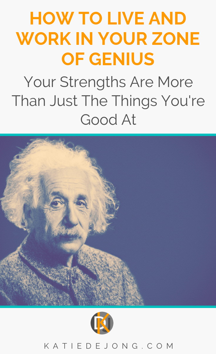 How often are you operating in your zone of genius? The only way to find true and lasting fulfillment is to consciously find and work in your own unique zone of genius. There are four critical signs to look out for in a true strength. Read on to find out what these are! #strengths #findyourstrengths #zoneofgenius #naturalgenius #positivepsychology #workinyourzoneofgenius #strengthsanalysis #strengsthfinder