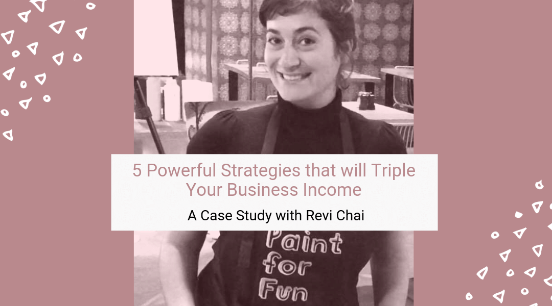 5 Powerful Business Strategies that will Triple Your Income – A Case Study with Revi Chai