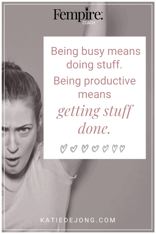 There's a huge difference between being busy and being productive. Read on to discover how you can become highly productive in my article 6 Powerful Productivity Strategies that will Help You Get More Out of Your Day. #productivity #timemanagement #goals #goalsetting #successstrategies #successmindset #worksmarternotharder #entrepreneurmindset #fempire #fempirecoach
