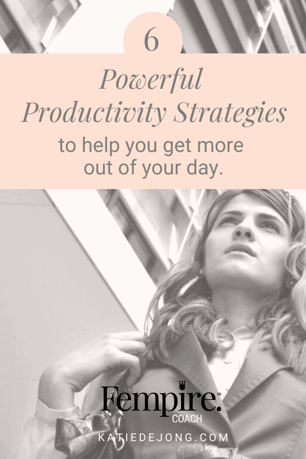 As an entrepreneur, you need to find ways to intentionally carve out time to work on the activities that are on the critical path for your business growth. Discover the exact steps on how to do this in my article 6 Powerful Productivity Strategies that will Help You Get More Out of Your Day. #productivity #timemanagement #goals #goalsetting #successstrategies #successmindset #worksmarternotharder #entrepreneurmindset #fempire #fempirecoach