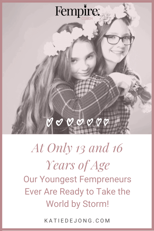 Discover how two young girls aged 13 and 16 have started their own business so that they can make a positive difference doing work they love. #fempire #fempirecoach #goals #goalsetting #entrepreneur #entrepreneurship #ladyboss #womeninbusiness #businesscoach #solopreneur #entrepreneurlife #entrepreneurial #entrepreneurmindset #success #successmindset #worksmarter #worksmarternotharder #laptoplifestyle #leadership