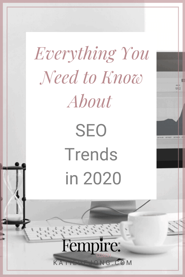 There are three emerging SEO trends you need to know about if you're keen to stay ahead of your competition. Keep reading to discover what they are! #SEO #searchengineoptimisation #digitalmarketing #SEOtrends #inboundmarketing #entrepreneur #businessgrowth #businessstrategy #ladyboss #fempire #fempirecoach