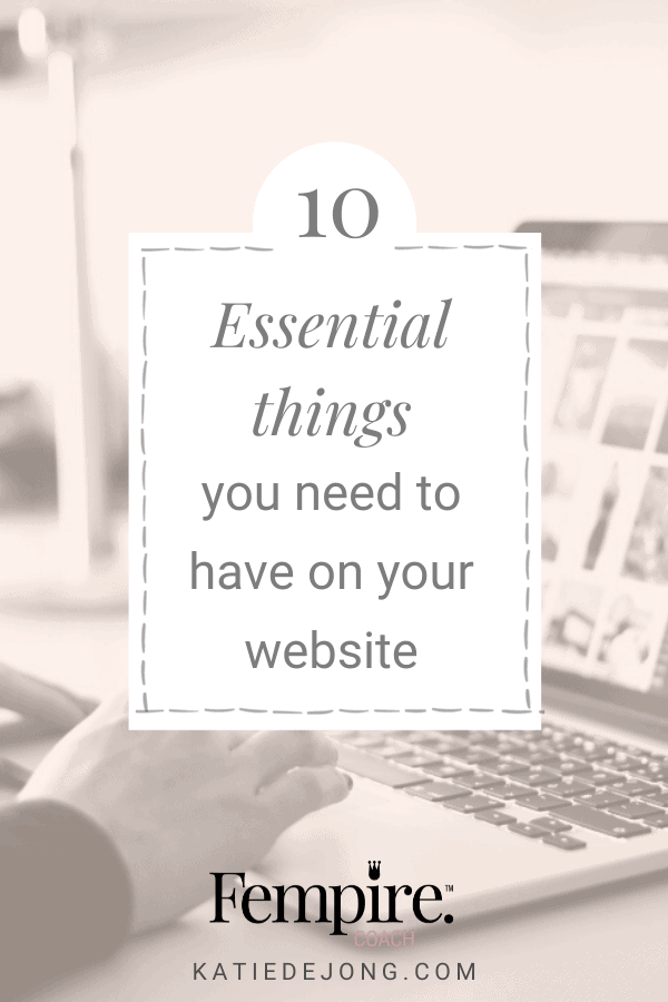 Let your website do all the hard work for you by implementing these 10 essential strategies. #websites #businesscoach #fempire #fempirecoach #SEO #websitedesign #businesssuccess #workfromhome #laptoplifestyle #entrepreneur #womeninbusiness #ladyboss #smallbusiness #businessowner