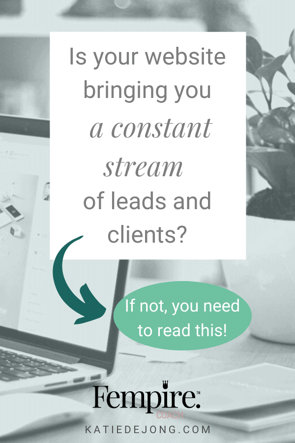 Is your website bringing you a consistent stream of leads and clients? Discover ten essential components of a high-converting website and make your website work for you. #websites #businesscoach #fempire #fempirecoach #SEO #websitedesign #businesssuccess #workfromhome #laptoplifestyle #entrepreneur #womeninbusiness #ladyboss #smallbusiness #businessowner