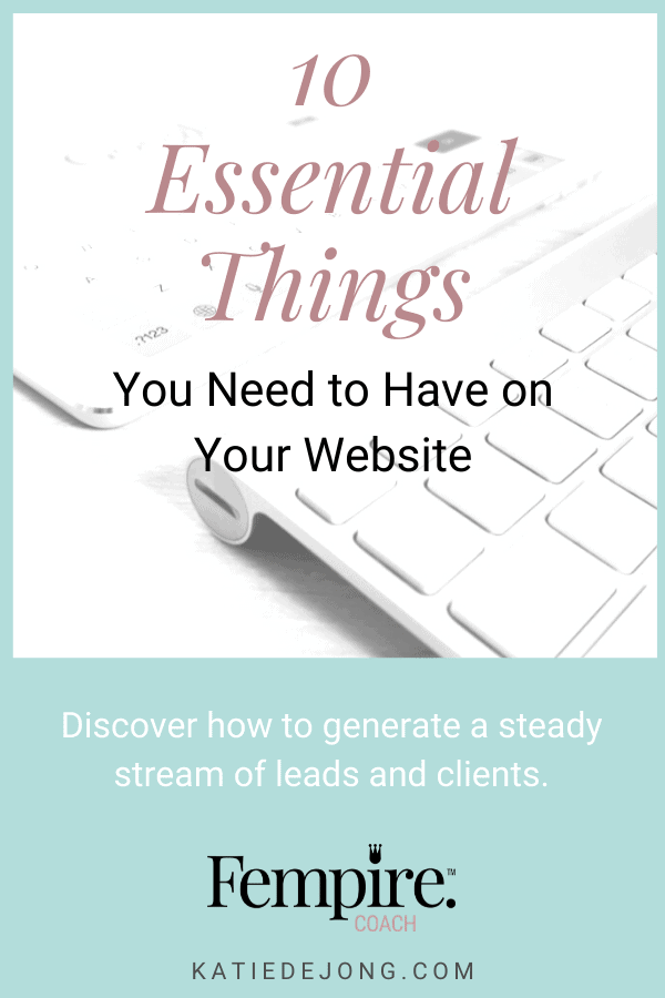 Let your website do all the hard work for you by implementing these ten essential client-winning strategies. #websites #businesscoach #fempire #fempirecoach #SEO #websitedesign #businesssuccess #workfromhome #laptoplifestyle #entrepreneur #womeninbusiness #ladyboss #smallbusiness #businessowner