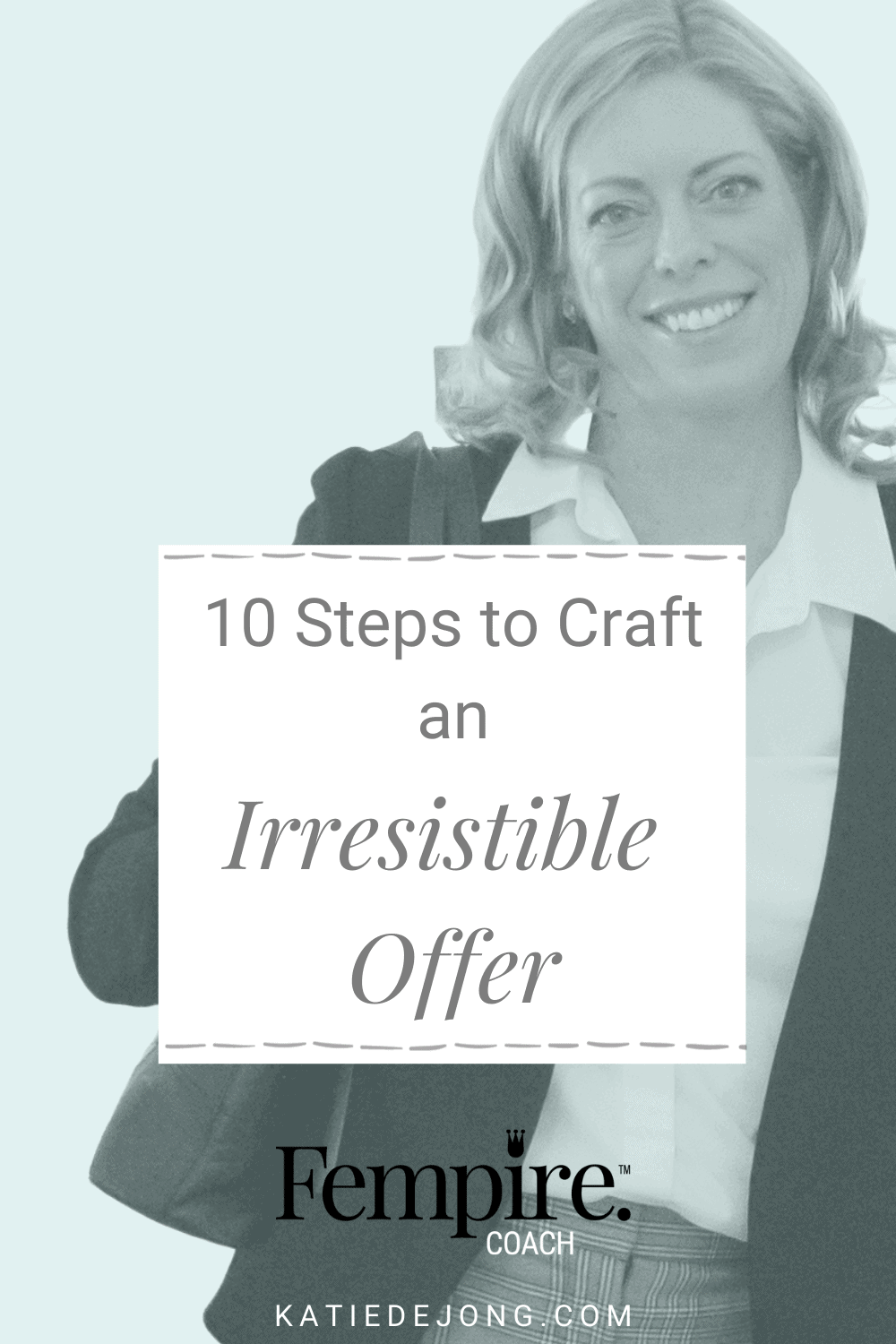 There are ten things you need to consider when crafting an offer to pitch to your audience so that you can guarantee that your offer converts your prospects into paying clients. Read on to discover what they are. #fempire #fempirecoach #marketing #digitalmarketing #entrepreneur #ladyboss #womeninbusiness #businesscoach #womensupportingwomen #workfromhome #successmindset #selling