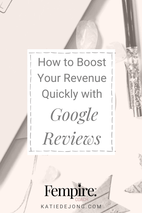 You don't have to spend lots of money on SEO or Ads to get featured in Google's top rankings. Discover how Google reviews can float you to the top easily and effortlessly. #SEO #Google #GoogleAds #GoogleReviews #DigitalMarketing #Entrepreneur #Fempire #ladyboss