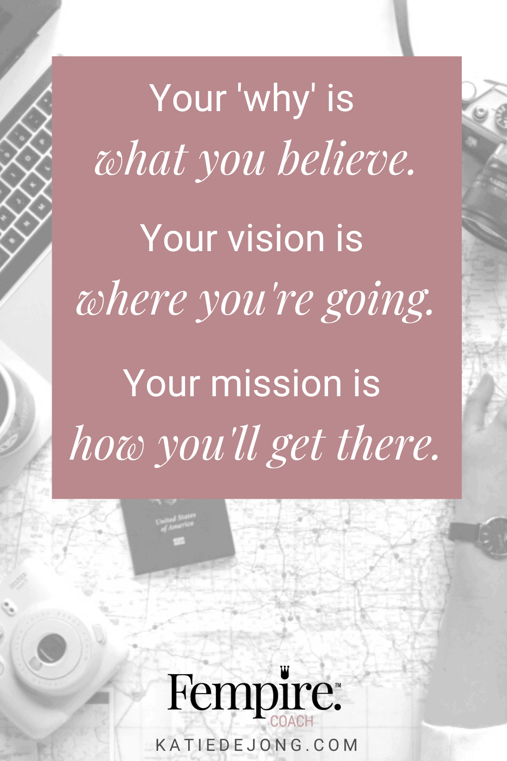 One of the most powerful things you can do in marketing is to clearly articulate your business 'why', vision, and mission. There's a subtle but key difference between each of these different statements and they each serve a different purpose. Read on to discover what those critical differences are. #fempire #fempirecoach #womeninbusiness #ladyboss #womeninbusiness #womensupportingwomen #marketing #marketingstrategy #smallbusiness #successmindset #entrepreneur #success #businessgrowth