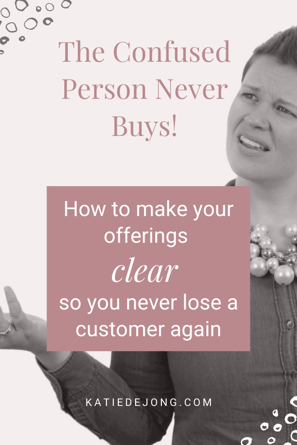 When people visit your website, are they converting into paying clients? One of the biggest reasons why people don't buy is because they're confused, or there's no clear path to a purchase. Discover how you can make your offerings crystal clear so that your offers convert! #marketing #conversion #sales #productisation #fempire #smallbusiness #businesscoach #businesscoachforwomen #entrepreneur