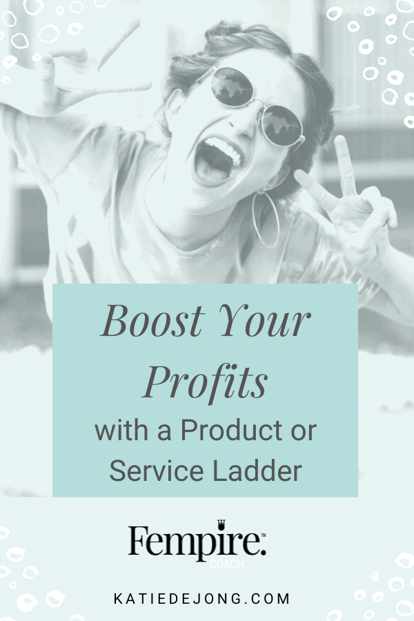 If you don't have a process in place in your business to encourage repeat purchases from your happy clients, then you're leaving money on the table! Discover how you can use a product or service ladder to boost your profits quickly. #serviceladder #digitalmarketing #customervaluejourney #marketing #fempire #smallbusiness #businesscoach #businesscoachforwomen #entrepreneur #womensupportingwomen