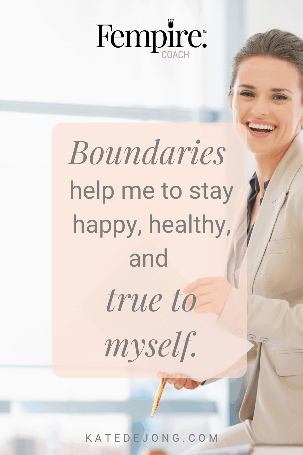 We all need healthy, strong boundaries in both our business and in our life to thrive. Discover how to identify when your boundaries have been crossed and what you can do to keep yourself balanced and grounded. #fempire #fempirecoach #strongboundaries #healthyboundaries #womensupportingwomen #boundaries #relationships #selfcare #selflove #personalgrowth