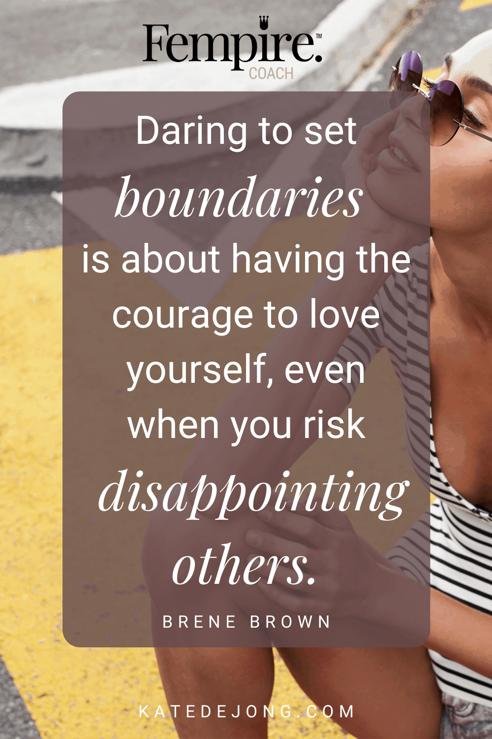 If you grew up as a people-pleaser, it can be difficult set strong, healthy boundaries. Can you relate? Here are some practical ways that you can protect your own sanity and well-being with strong and healthy personal boundaries. #fempire #fempirecoach #strongboundaries #healthyboundaries #womensupportingwomen #boundaries #relationships #selfcare #selflove #personalgrowth